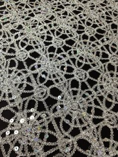 Metallic Chain Lace Fabric with Sequence - Silver   $9.75 Dance Art, Latin Dance, Costume Accessories, Hair Accessories, Lace Fabric, Dance Costumes, Wedding Inspiration, Wedding Ideas, Old Hollywood