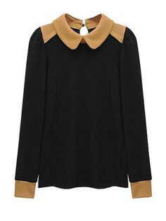 New Arrival Long Sleeve Doll Collar Fashion Blouses