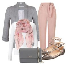 """""""Pastel fall"""" by danniss ❤ liked on Polyvore featuring Miss Selfridge, Topshop, Jigsaw, Humble Chic, Valentino and DKNY"""