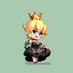 botton of the dress : still / up to reveal porte-jarretelle breast : slight up-down eyes : slightly closed, blush, wing eyeliner hair : slight swing ? How To Pixel Art, Cool Pixel Art, Anime Pixel Art, Art Anime, Sprites, Pixel Life, Pix Art, Pixel Characters, 8 Bit Art