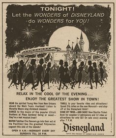Date Nights at Disneyland 1959...2 admissions and 12 rides or attractions for only 5 bucks after 7 p.m.