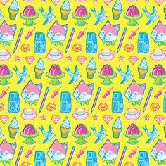 Stuff (CMY) fabric by magicjelly on Spoonflower - custom fabric