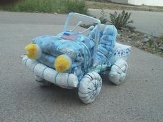 Diaper Jeep - Baby Shower Gift - Nursery Decoration - Layette. $35.00, via Etsy.