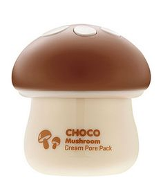 [TONYMOLY] Magic Food Choco Mushroom Cream Pore Pack / Plentiful moisture I recommend this it's working really well! Tony Moly, Cocoa, Rhassoul, Le Cacao, Acne Cream, Baby Skin Care, Facial Treatment, Beauty Shop, Arrows
