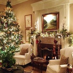 (My house on Pinterest!)....Traditional holiday decor is warm, cozy, and jolly enough to put a smile on anybody's face;
