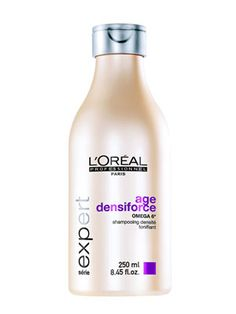 Need anti-aging products for your hair? New products, like L'Oreal Professional Serie Expert Age Densiforce Shampoo ($20), focus on more mature hair to give your hair exactly what it needs.