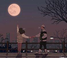 Cute Couple Drawings, Cute Couple Art, Anime Couples Drawings, Cute Anime Couples, Cute Drawings, Hipster Drawings, Pencil Drawings, Paar Illustration, Couple Illustration