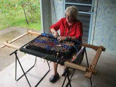 Judi using traditional proddy frame