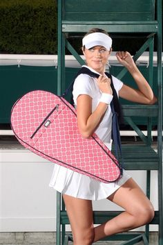 Ame & Lulu Tennis Racquet Covers in 3 #preppy patterns at #golf4her.com