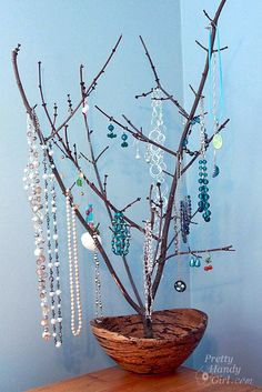 Tree Branch Jewelry Holder