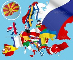 Map of Europe  #GraphicRiver         This is a map of Europe . Every country has its own shape layer. And has his own flag as a cliping mask . You can easily edit it or you can separate countries and use them for your projects . Features AI Illustrator & Eps vector     Created: 21July13 GraphicsFilesIncluded: VectorEPS Layered: No MinimumAdobeCSVersion: CS Tags: countries #country #eueuropian #europe #layered #map #mapofeurope #nation #nations #state #uk
