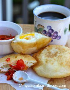 Arepas con huevos Colombiana