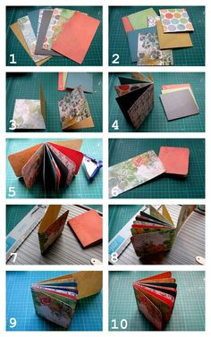 PaperVine: Folded Paper Mini Album PLUS Tutorial.  This would be a quick project for using up some of that extra scrapbook paper.