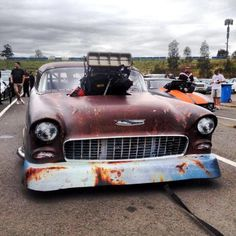 "Patina'd Pro Mod Drag Car!  It'll be interesting to see that the more this ""worn is beautiful"" trend manifests just how many more cool ""drug out of the barn and raced again"" cars will be found."