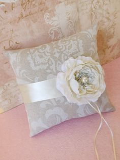 Vintage Glam Wedding Ring Bearer Pillow by creations4brides, $40.00