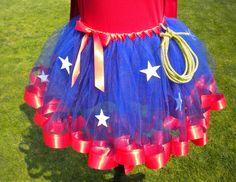 Wonder Woman Super Hero Costume Tutu by theblackscottie1 on Etsy