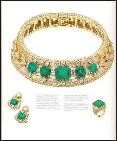 bulgari necklace - emeralds