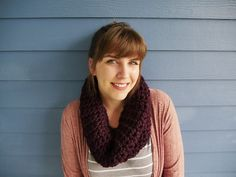 How to crochet infinity scarf in under 1 hr