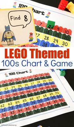 A LEGO Themed Chart and Game to help children master counting to and identifying numbers Preschool Learning Activities, Lego Activities, Preschool Education, 100 Chart Printable, Writing Prompts For Kids, Kids Writing, Inspired Learning, Educational Crafts, Learning Numbers