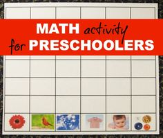 A nice and easy to do Montessori Preschool Math Graphing Activity