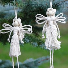 Best 12 How to Make Angel Easily « Christmas Ideas :: WonderHowTo Macrame Wall Hanging Patterns, Macrame Patterns, Quilling Patterns, Christmas Projects, Christmas Crafts, Christmas Ideas, Crochet Christmas, Christmas Angel Ornaments, Christmas Poinsettia