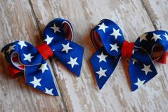 Patriotic Stars and stripes Piggie set by ChloeChicBowtique