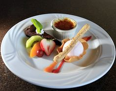 How to Garnish a Plate | ... kobayashi s dessert plate features a vanilla bean creme brulee fresh