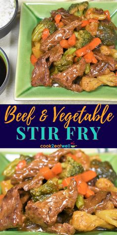 This Beef and Vegetable Stir Fry is quick to make and really good. In this recipe, steak strips are quickly browned then combined with mixed vegetables and a delicious, homemade stir fry sauce. This stir fry is an easy way to get some vegetables in. Plus it's a budget friendly, and really stretches a pound of meat.