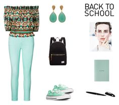"""""""Back to School Softly (contest)"""" by scolab ❤ liked on Polyvore featuring Ralph Lauren, Converse, jucca, Herschel Supply Co., Carousel Jewels and agnès b."""