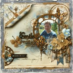 Masculine style scrapbook page made by Gabrielle Pollacco for The Scrapbook diaries page kits. Video tutorial and kit available while quantities last at The Scrapbook Diaries