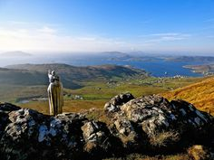 Our Lady of The Isles looking out over Castlebay. Isle of Barra, Outer Hebrides.