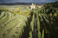 San Biagio, Montepulciano, Tuscany, Italy © Ruggero Arena. One of the most extraordinary things about Antonio da Sangallo's church (1518-45) is the location - set apart from the hilltop town in the landscape