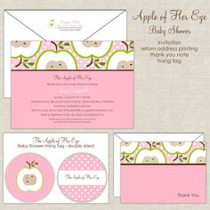 The Apple of Your Eye Baby Shower Invitation