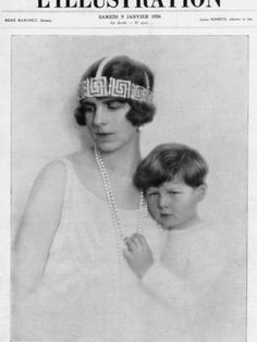 Princess Helen of Greece with Prince Michael of Romania Photographic Print at AllPosters.com
