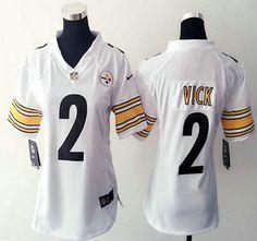 Women's Nike Pittsburgh Steelers Jersey 2 Michael Vick Game White NFL Jerseys