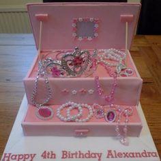 Princess Jewelry Box Cake Recipe Boxed cake Princess jewelry