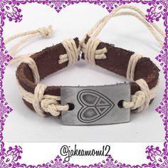 """Spotted while shopping on Poshmark: """"❄️BOGO1/2OFF❄️Leather and hemp bracelet""""! #poshmark #fashion #shopping #style #Jewelry"""