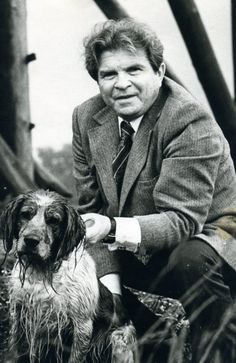 Emil Gilels with dog