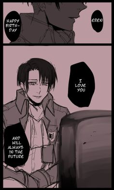 Levi and Eren('s grave) || http://www.pixiv.com/works/40155100 | translation rivialle-heichou(at) tumblr [please do not remove this caption with the source]