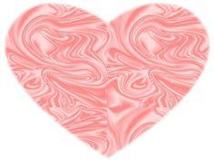 COEUR ROSE. coeur de soie