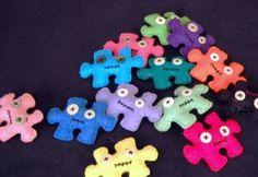 #Felt, #Fieltro Felt puzzle, piezas de puzzle de fieltro