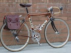 Modified set of equestrian saddle bags for pannier rack