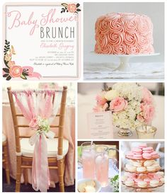 For an ultra feminine affair, what could be prettier than a rose themed baby shower brunch. Blush blooms and rose flavored treats will pull it all together.