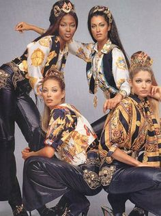 Versace baroque supermodel in the 90's