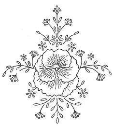 Embroidery transfer flower
