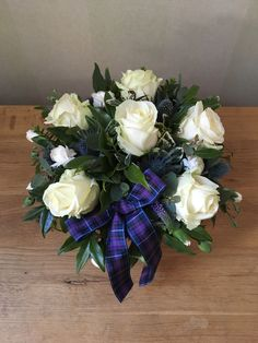 Scottish Burns night flowers #madebyann