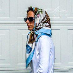 Essential Wardrobe Pieces, Head Scarf Tying, Silk Neck Scarf, Head Scarf Styles, Oversized Scarf, Neck Scarves, Elegant, Womens Scarves, Lady
