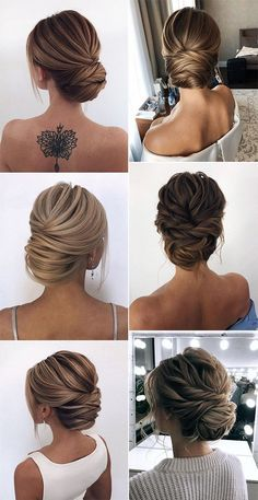 Women Hairstyles Over 60 Year Old Trendy Hairstyles 20 Classic Updo Wedding Hairstyles from Oksana o Loose Wedding Hair, Classic Wedding Hair, Wedding Hair And Makeup, Sleek Wedding Updo, Sleek Hair Updo, Updos For Wedding, Elegant Wedding Hairstyles, Classic Hairstyles, Bride Hairstyles