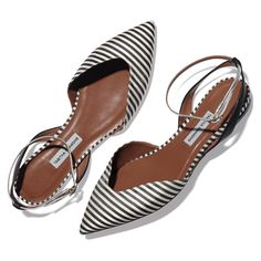~striped pointed toe flat  I think that this style is going to go out of style real fast because when it first came out people were hyped to get them and now they are just there in my opinion