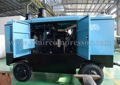 BKCY Portable screw air compressor, diesel powered air compressor